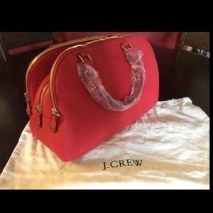 3 zipper J.Crew red purse